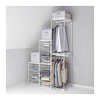"IKEA ""АЛЬГОТ"" Рама+штанга/проволочн корзины, белый, 123x60x201 см"