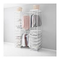"IKEA ""АЛЬГОТ"" Рама+штанга/сетч крзн/верх плк, белый, 120/140x60x203 см"