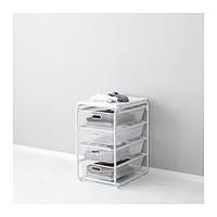 "IKEA ""АЛЬГОТ"" Рама/4 сетчатые корзины/верхн полка, белый, 41x60x72 см"