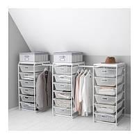 "IKEA ""АЛЬГОТ"" Рама/сетч корзины/штанга, белый, 199-239x60x102 см"