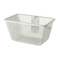 "IKEA ""АЛЬГОТ"" Сетчатая корзина с держателем, белый, 30x22x15 см"