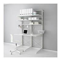 """IKEA """"АЛЬГОТ"""" Стойка/ножка/полки, белый, 127x67x194 см"""