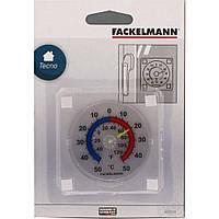 Термометр для крепления на стекло 7.5х7.5 см, пластик, Fackelmann 63751