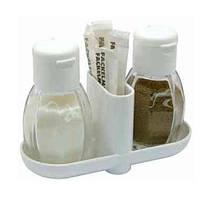 Дозаторы для соли и перца (набор) D 7 см, 13 см, стекло/пластик, Fackelmann 47310