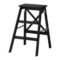 """IKEA """"БЕКВЭМ"""" Стремянка, 3 ступеньки, черный"""