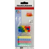 Свечи для торта с пластиковыми подставками 24 шт., 8 см, Fackelmann 52507