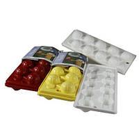"Форма для льда ""Футбол"" 2 шт.(желтая + синяя), пластик, Fackelmann 49355"