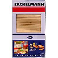 Зубочистки двусторонние 0.2х6.8см, 1000шт, древесина, Fackelmann 57680