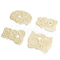 Формы для вырезания печенья со штамповкой рисунке 4 шт., пластик, Fackelmann 43062