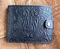 Мужское кожаное портмоне № 2 Лев, фото 1