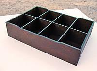 Органайзер для пакетиков чая 8 ячеек, цвета разные