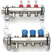 Коллектор для теплого пола на 6 выходов с расходомерами HKV-D 6 REHAU