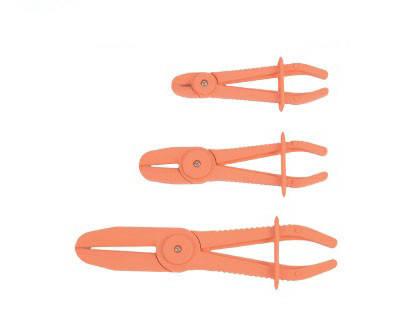 Набор плоскогубых щипцов с фиксатором для пережима шлангов FORCE 903G12 3 пр., фото 2