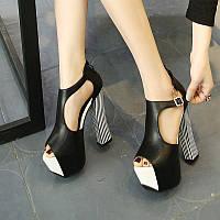 Босоножки супер высокие каблуки 14см  2 цвета, фото 1