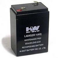 Свинцово-кислотный аккумулятор HW 6В, 4.0A/ч.