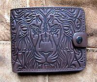 Популярное портмоне из натуральной кожи № 2 Лев, фото 1