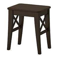 """IKEA """"ИНГОЛЬФ"""" Табурет, коричнево-чёрный"""