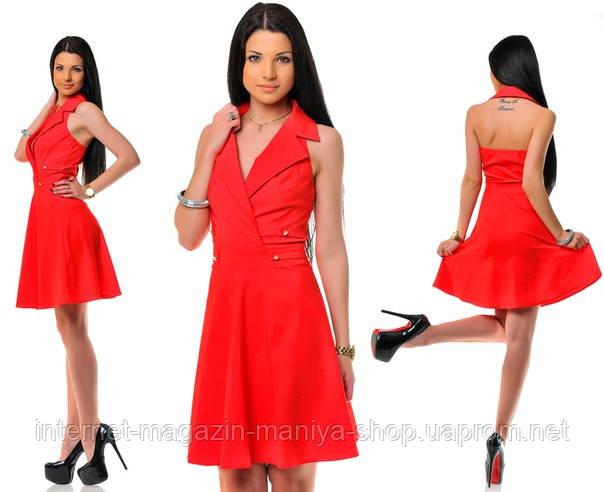 Платье женское воротник