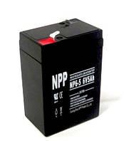Свинцово-кислотный аккумулятор 6В, 5.0A/ч , бытовой и торговой аппаратуры