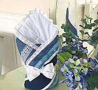 Конверт-одеяло для новорожденного «Индиго» Лето