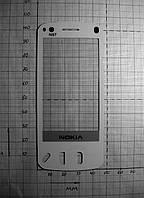 Тачскрин, сенсор, стекло для China Nokia N97 47x107 белый (#1333)
