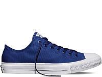 Кеды Converse All Star II Low Chuck Taylor Lunarlon синего цвета (Конверсы) весна/лето
