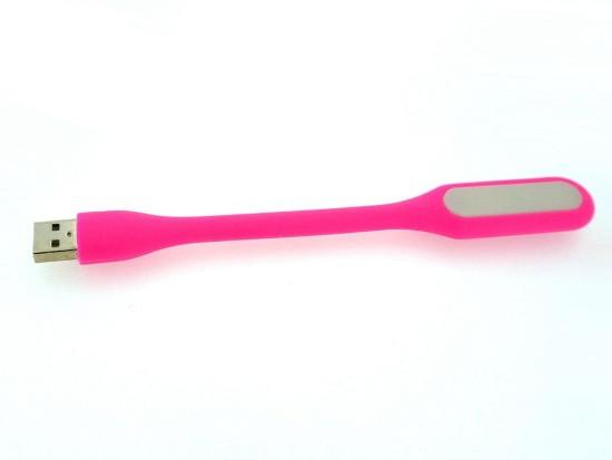 Светодиодный usb светильник  розовый 5V (гибкая светодиодная USB лампа) Код.58649