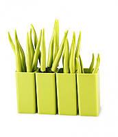 Набор  столовых приборов Vialli Design Tullio (зеленый)