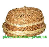 """Хлебница овальная с крышкой """"плетеная из половинчатой лозы"""" Арт.602н"""
