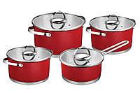 Набор кастрюль Florina Novigo 5K9993 (красный) ― 8 элементов