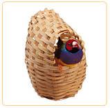 Плетеное гнездо для мелких птиц:канареек, амадин.PA 4452.8,5*11,5 см., фото 2