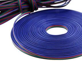 Кабель для RGB ленты плоский 4х0.35 (1метр) Код.58652