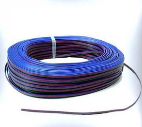 Кабель для RGB ленты плоский 4х0.35 (1метр) Код.58652, фото 2