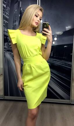 Платье коктейльное с крылышками, желтое, фото 2