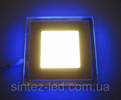 Светодиодная панель LM 501 12W 4500K квадрат син. подсветк. наружн. Код.58663, фото 2