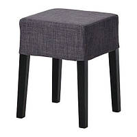 "IKEA ""НИЛЬС"" Табурет, черный, Шифтебу темно-серый"
