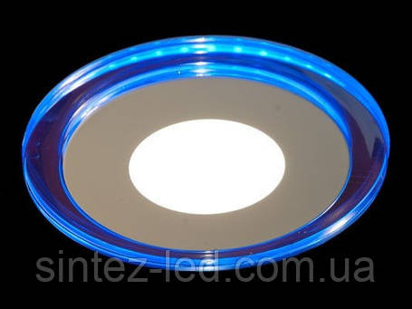 Светодиодная панель LM 495 3W 4500K круг син. подсветк. наружн. Код.58660, фото 2