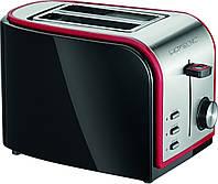 Тостер Clatronic TA 3557 черно-красный Германия Хит продаж