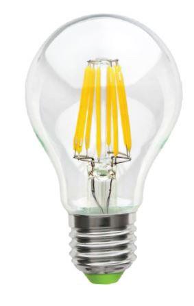 Светодиодная лампа Lemanso Filament LED LM718 8W A60 Е27 4500K (прозрачная) Код.58656