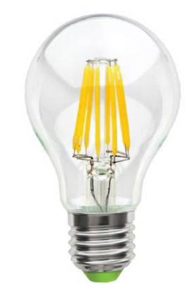 Светодиодная лампа Lemanso Filament LED LM718 8W A60 Е27 4500K (прозрачная) Код.58656, фото 2