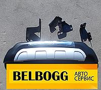 Накладка заднего бампера хром тюнинг BYD S6, Бид С6, Бід С6