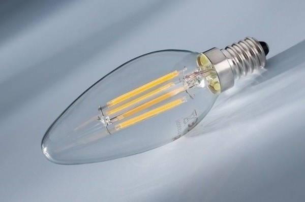 Светодиодная лампа Lemanso Filament LED LM392 4W С35 Е14 4500K (свеча, прозрачная) Код.58655, фото 2
