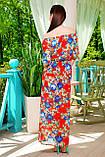 Длинное шифоновое платье с розами. разм.L(46-48), фото 2