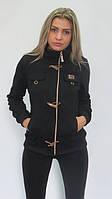 Куртка-кофта на флисе черный