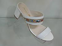 Шлепанцы женские на удобном каблуке