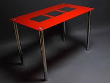 Стіл кухонний скляний Малевич, ніжки хром 91х61 *Еко (БЦ-стіл ТМ), фото 2
