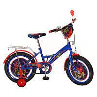 Детский велосипед PROF1 мульт 16д PS1631 Spider, сине-черный ***