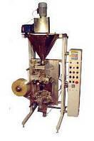 Автоматическая установка для фасовки и упаковки сыпучих продуктов со шнековым дозатором в трех-четырехшовные п