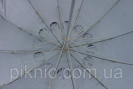 Зонт торговый, садовый 2,8м с клапаном 12 спиц. Усиленный зонт для торговли на улице!, фото 2