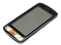 Сенсор (тачскрин) Nokia C6-01 с рамкой Silver Original